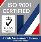 Emjay Engineering is an ISO 9001 : 2015 Certified Company